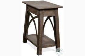 Helmsley Brushed Auburn Chairside Table