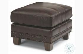 Port Royal Brown Leather Ottoman