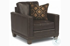 Port Royal Brown Leather Chair