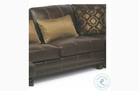 Port Royal Brown Leather Armless Chair