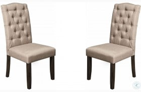 Newberry Grey Tufted Parson Chair Set of 2