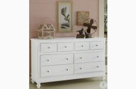 Lake House White 8 Drawer Dresser