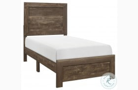 Corbin Rustic Brown Youth Bed in a Box