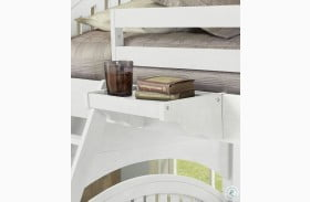Lake House White Hanging Nightstand