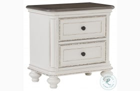 Baylesford Antique White And Brown Gray Nightstand