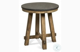 Weatherford Bluestone Round End Table