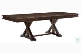 Cardano Driftwood Charcoal Extendable Trestle Dining Table