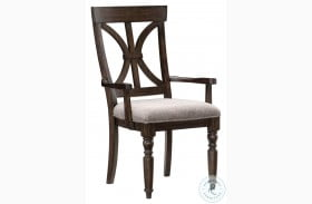 Cardano Driftwood Charcoal Arm Chair Set Of 2