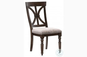 Cardano Driftwood Charcoal Side Chair Set Of 2
