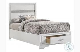 Miranda White Youth Storage Platform Bed
