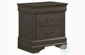 Mayville Stained Grey Nightstand