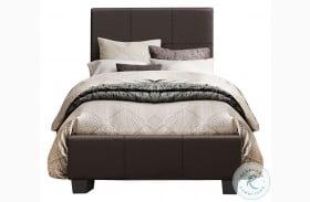 Lorenzi Dark Brown Youth Upholstered Platform Bed