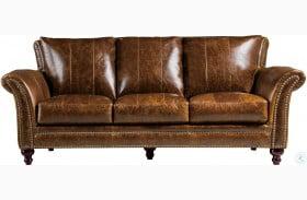 Georgetowne Butler Brown Leather Sofa