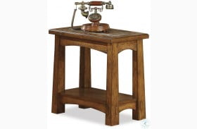Craftsman Home Americana Oak Chairside Table