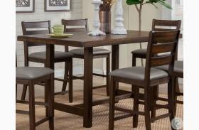 Emery Walnut Pub Height Dining Table