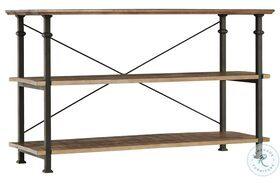 Factory Rustic Poplar and Black Sofa Table