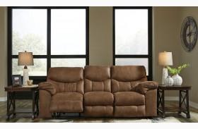 Boxberg Bark Finish Reclining Sofa