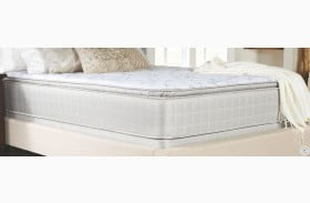 Marbella II Gray Pillow Top Twin Long Mattress With Foundation
