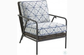 Cypress Point Ocean Terrace Aged Iron Outdoor Occasional Chair