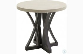 Cypress Point Ocean Terrace Aged Iron Outdoor Side Table