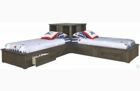 Napoleon Youth Gunsmoke Twin Corner Platform Bed