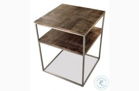 Fusion Brindled Fawn Square End Table