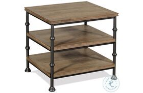 Revival Spanish Grey End Table