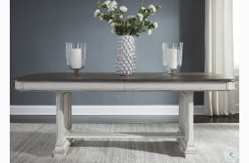 Abbey Park Antique White Extendable Trestle Dining Table