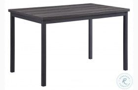 Tripp Gray And Silver Metal Dining Table