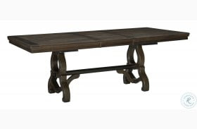 Gloversville Brown Extendable Dining Table