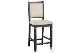 Asher Beige And Black Counter Height Chair Set Of 2