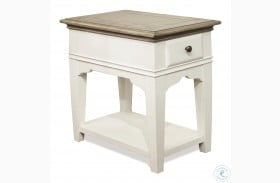 Myra Natural And Paperwhite Chairside Table