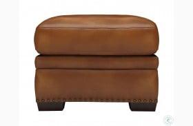 Laguna Tan Leather Ottoman