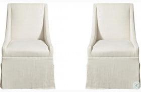 Modern Townsend Flint Arm Chair Set of 2