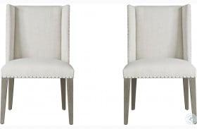 Modern Tyndall Beige Dining Chair Set of 2