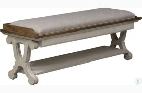 Farmhouse Reimagined Antique White Bed Bench