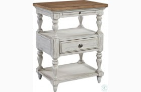 Farmhouse Reimagined Antique White 1 Drawer Nightstand