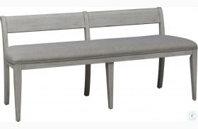 Farmhouse Reimagined Antique White Upholstered Bench