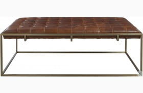 Curated Modern Travers Brown Cocktail Ottoman