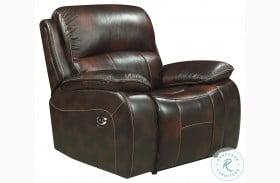 Mahala Dark Brown Leather Power Reclining Chair