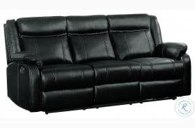 Jude Black Double Reclining Sofa