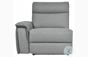 Maroni Gray Power LAF Reclining Chair With Power Headrest