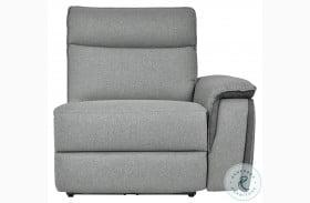 Maroni Gray Power RAF Reclining Chair With Power Headrest