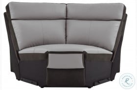 Laertes Two Tones Gray Corner Seat