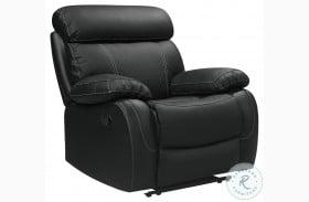 Pendu Black Leather Reclining Chair