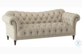 St. Claire Brown Fabric Sofa