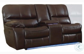 Pecos Brown LAF Power Reclining Loveseat With Console