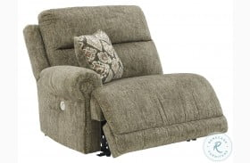 Lubec Taupe LAF Zero Wall Power Recliner