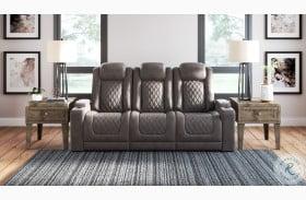 Hyllmont Gray Power Reclining Sofa