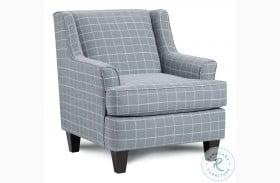 Bates Nickel Blue Accent Chair